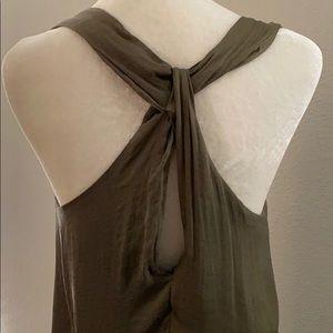 ZARA green midi dress with detail in back